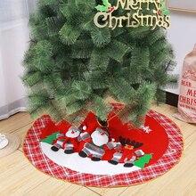 """Рождественская елка юбка 3"""" 36"""" 4"""", Плюшевые рождественские вечерние украшения для рождественской елки"""