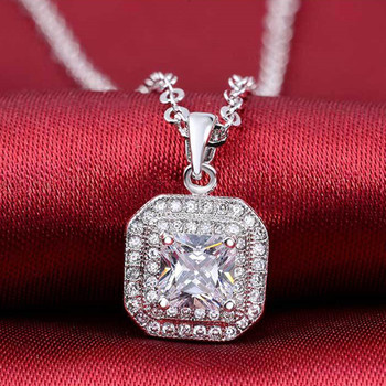 2020 new products 925 Sterling Silver Necklace & Pendant for women four colors Jewelry 2015 new x503 gnx0495 2015 new horizontal sideways cross women pendant necklace fashion 925 sterling silver necklaces for women