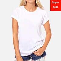 Lyprerazy Estate Super soft white T-shirt da Donna Manica Corta in cotone Modale Flessibile T-Shirt di colore bianco Formato S-XXL