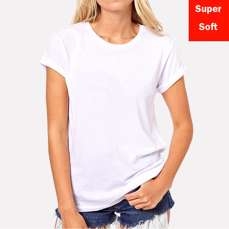 Lyprerazy Summer Super Soft White T Shirts Women Short Sleeve Cotton Modal Flexible T-shirt White Color Size S-XXL