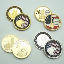 3 шт/лот американский 911 Орел железо позолота копия монеты