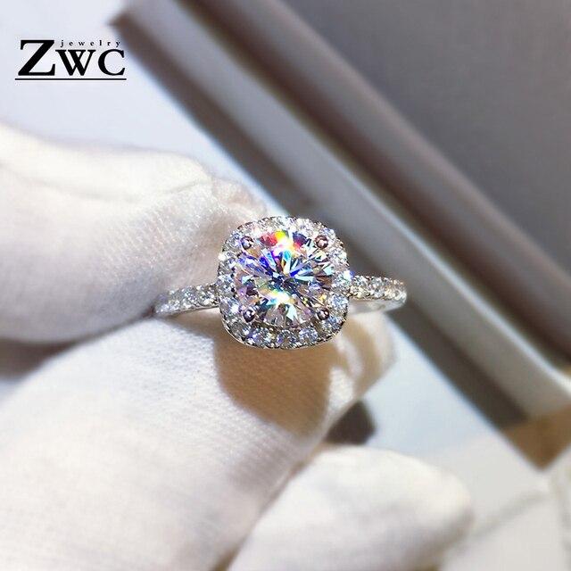 Zwc di Modo di Fidanzamento di Cristallo Artigli Disegno Caldo di Vendita Anelli per Le Donne Aaa Zircone Bianco Cubic Anelli Eleganti da Sposa Femminile Jewerly 3