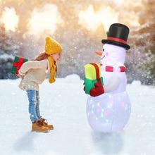 Toys Christmas-Decor Garden Inflatable Dolls Snowman Gifts Party Santa-Claus Outdoor