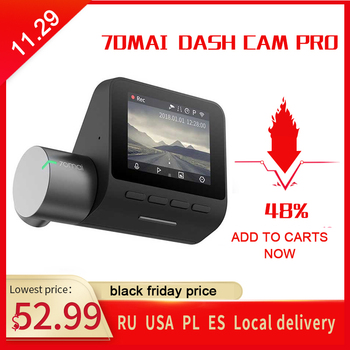 Xiaomi 70mai Pro Dash Cam Car DVR 1944P HD GPS ADAS Camera IMX335 140 Degree FOV Night Vision Voice control 24H Parking Monitor