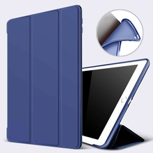 PU Soft Silicone Cover For iPad 10.2 inch 2019 7th Gen New Funda Protective Shell Magnet Auto Wake Smart Model A2198 A2200