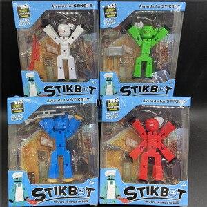 Image 3 - 10 20 sztuk/zestaw kolory losowo wysyłania śliczne karteczki zwierząt robota przyssawki Sucker śmieszne deformowalne kij Bot zabawki figurki akcji
