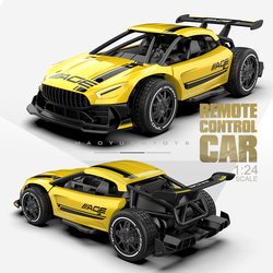 Infant Shining RC Cars Radio Control 2.4G 4CH Race Car Toys for Children 1:24 High Speed Electric Mini Rc Drift Driving Car