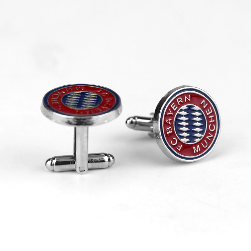 Fashion Football Club Logo Cufflinks Bayern Creative Alloy Shirt Sleeve Nail Suit Accessories Holiday Gifts Preferred