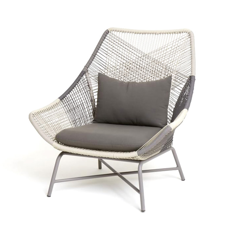 Outdoor Chair Three-piece Model Room Lounge Chair Balcony Small Table And Chairs Combination Garden Small Coffee Table Sofa Chai