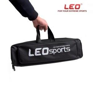 LEO сумка для рыболовных снастей 50 см, универсальная Рыболовная Сумка, Мини Портативная сумка для удочек, черная Однослойная стальная провол...