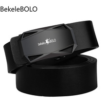 Men's Leather Belt Toothless Automatic B