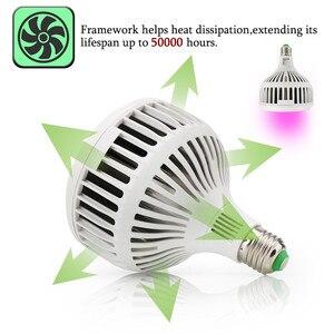 Image 4 - 120ワットフルスペクトルはライト36 leds cob led電球ランプ植物水族館花種子庭の野菜温室E27