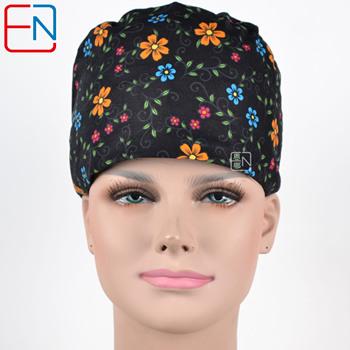 Fabryka sprzedaży bezpośrednio duża wyprzedaż scrubs czapki w różne wzory peeling czapki 3 rozmiary peeling czapki meinvchaoren tanie i dobre opinie COTTON WOMEN Flower designs Akcesoria Medyczne Suknem flowers