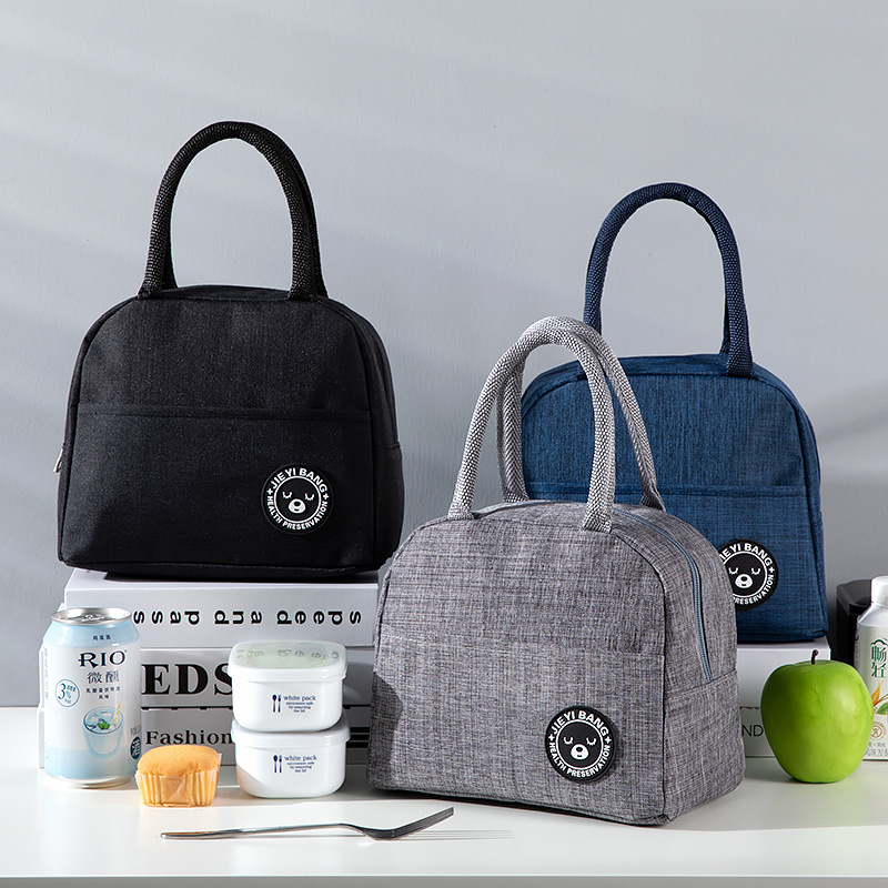 Food Carrying Bao Lv Bo Thermal Bag Hand Bento Box Bag Thick Simple Large-Volume-Style Nursing Container Bag