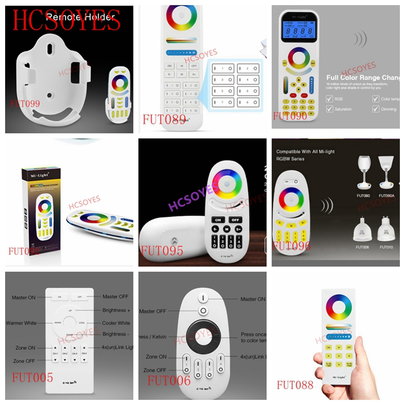 Milight FUT005 FUT006 FUT007 FUT089 FUT096 FUT092 FUT095 Remote 2.4G 4-Zone LED Controller Button/Touch RF Wireless Remote