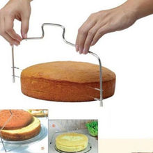 Cake Cutter Stainless Steel Slicer Double Line Adjustable Pasty Slicer Cake Tools Kitchen Gadgets Sweetgo Decorating Baking stainless steel wire cake cutter slicer adjustable diy butter bread divider pastry cake kitchen baking tools