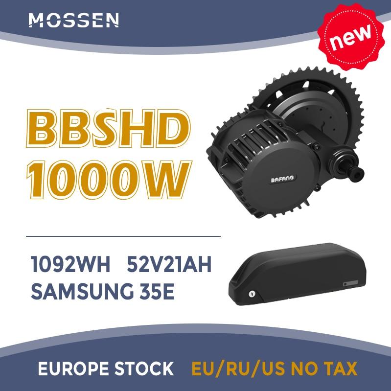 Bafang motor BBSHD 1000w 48V motor mid drive motor bbs03 electric bike motor ebike conversion kit with 52v 21ah SAMSUNG battery