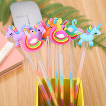 Stationery Gel-Pens Unicorn Writing-Supplies Gift Highlighter Ink-Signature Colorful
