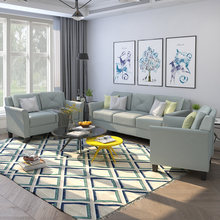 Современный диван на пуговицах из стеганной ткани комплект мебели