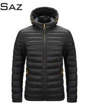 Саз Мужская зимняя осенняя куртка куртки для мужчин с капюшоном