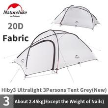 Naturebike tente de Camping Hiby 3 pour 3 personnes, tente familiale extérieure, Double couche, de tourisme, étanche à la pluie, nouvelle collection 20D