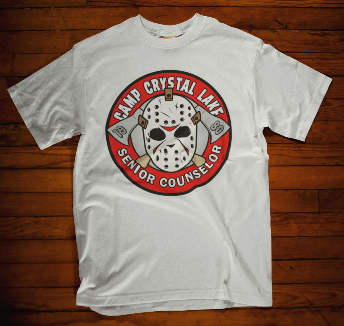Camp Crystal Lake Counselor T Shirt Funny Present Horror Fan Gift Jason Tee image