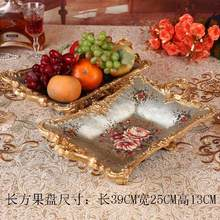 christmas European style living room dining table tea decorative utensils resin fruit plate dried  handicraft