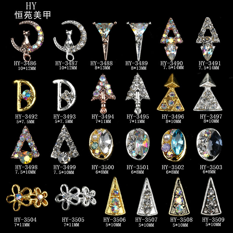 Halloween Nail Ornament With Metal-Nail Jewelry AB Symphony Drilling DIY Stickers Nail Crystal Phototherapy Wholesale