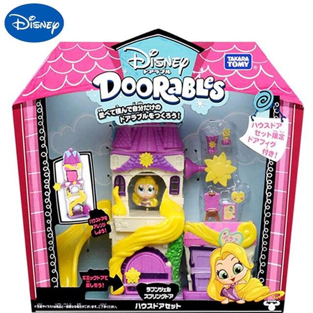 TAKARA TOMY Disney Doorables Tangled Rapunzel Princess Tale Fantasy Castle Play Slide House Mini Peek Box Girls Gift Kids Toys 1