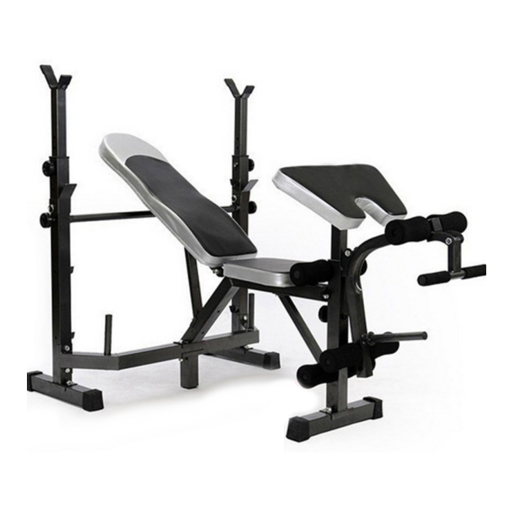 Household Multifunctional Weightlifting Bed Dumbbell Weight Bench Barbell Bed Squat Rack Can Bear 300KG