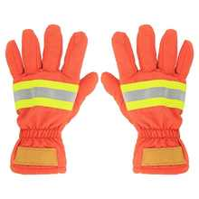 2 pces à prova de fogo à prova de fogo luvas de combate a incêndios à prova de fogo impermeável resistente ao calor respirável anti-estática bombeiro mão proteção