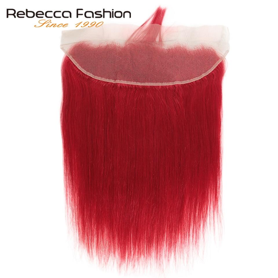 Rebecca pacotes vermelhos com frontal do cabelo