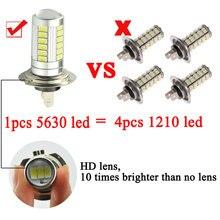 Car Led Headlight LED Fog Light Auto Bulbs H7 33 SMD Durable
