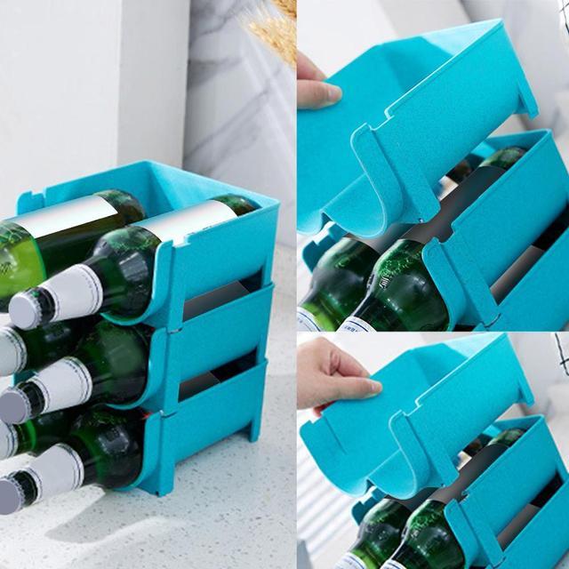 Refrigerator Storage Basket Box Can Beverage Organizer Wine Juice Bottle Storage Rack Tool Shelf Kitchen Accessories Gadgets Q3
