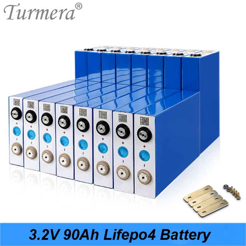 Turmera 2020 New <font><b>3.2V</b></font> 90Ah <font><b>Lifepo4</b></font> <font><b>Battery</b></font> Lithium iron phosphate <font><b>battery</b></font> for Solar power system and Uninterrupted Power Supply image