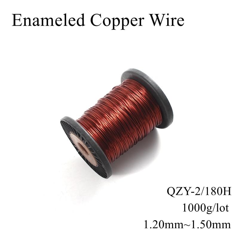 1,2mm 1,25mm 1,3mm 1,35mm 1,4mm 1,45mm 1,5mm QZY-2/180 H alambre de cobre esmaltado magnético Alambre de bobina de esmalte enrollado Cable de imán 6,3 enchufe plano de púas resorte terminal frío cableado enchufe de codo primavera