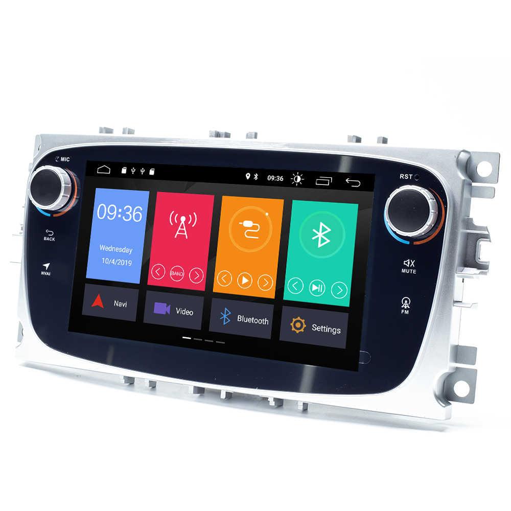 2 din Android 10 車フォードフォーカス 2 3 mk2 久我モンデオ 4 フィエスタ Transit Connect S-C 最大マルチメディア GPS ナビヘッドユニット DAB