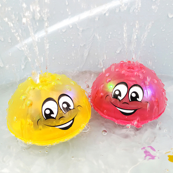Lovely Infant Bath Toys Spray Water Light Rotate Squirting Sprinkler Baby Swimming Bathroom Toy LED Light Toys Toys for Children