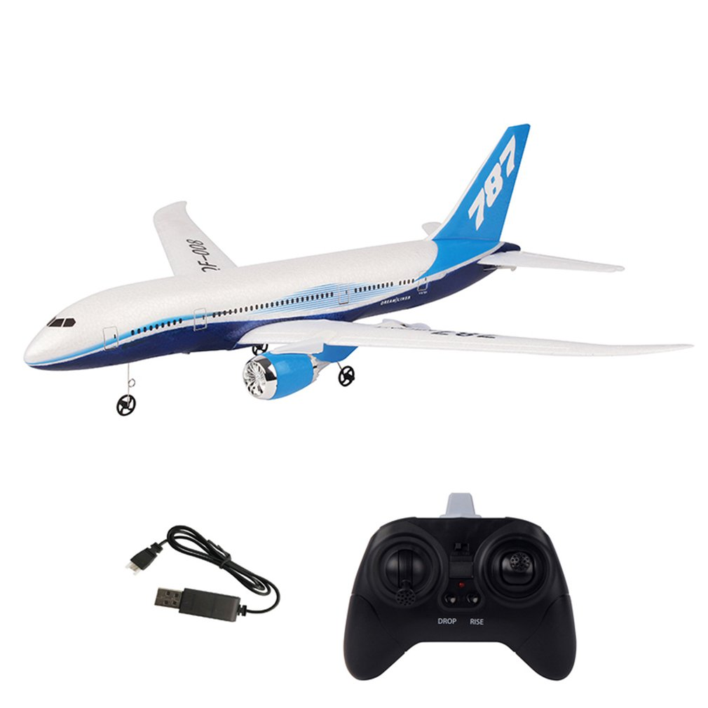 QF008-Boeing 787 2.4GHz 3CH EPP RC Airplane 550mm Wingspan Fixed Wing RTF Scale Aeromodelling Remote Control Airplanes image