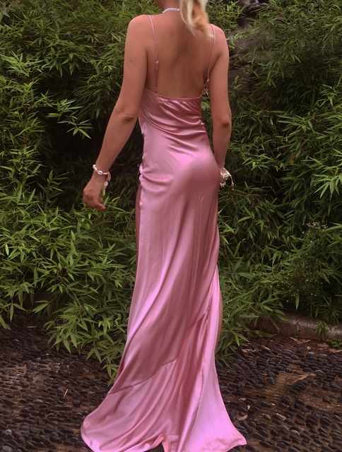 2021 Sheath Sexy Prom Evening Dresses Long Spaghetti Straps V-Neck Robe De Soiree With Side Slit Party Prom Dresses 6