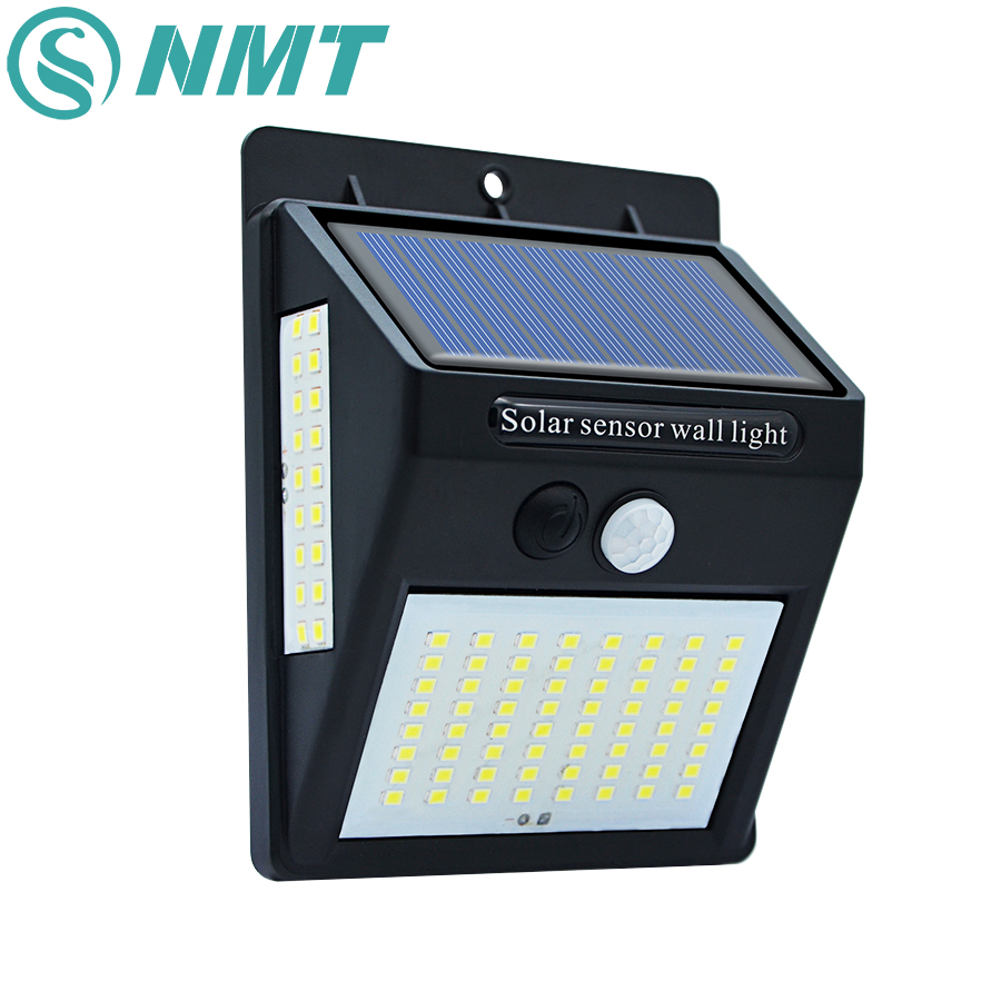 <font><b>30</b></font>/40/100 <font><b>LED</b></font> Outdoor <font><b>Solar</b></font> Wall Lamp PIR Motion Sensor Waterproof Light Garden Light Path Emergency Security Light 3 Sided image