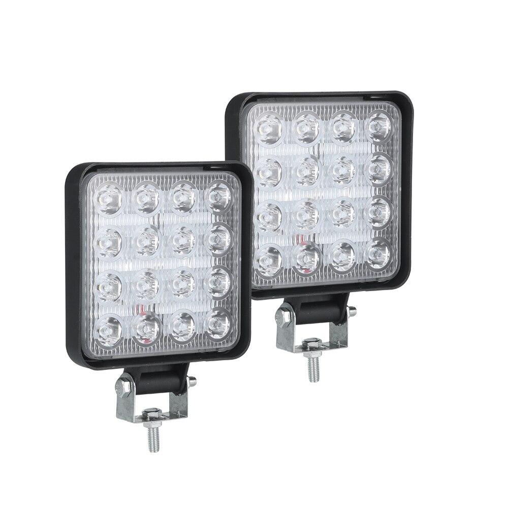 Автомобильный рабочий светильник 48 Вт Светодиодный светильник для внедорожника водонепроницаемый светильник для мотоцикла Точечный свет...