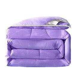 Летнее зимнее шелковое одеяло, китайское шелковое одеяло, фиолетовое, серое, зеленое, цветное одеяло, наполнитель из натурального/шелковичн...