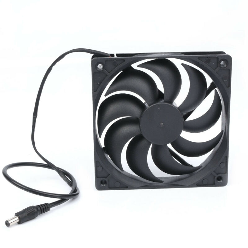 New 10W Solar Powered USB Fan Small Fan Air Vent Air Cooling For Tree Greenhouse