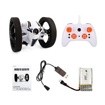 цена на High Speed Rc car RC Jumping Bounce Cars 4CH 2.4GHz with Flexible Wheels Remoter Robot Car toys Arbitrary Angle turning