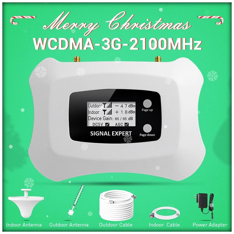 Volledige Intelligente Lcd Display 3G Mobiele Signaalversterker 2100 Mhz Wcdma Repeater 3G Cellulaire Versterker 3G Signaal Versterker Kit