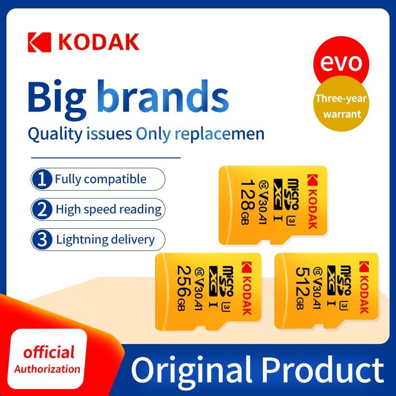 Kodak Memory Card 256GB 128GB 64GB U3 32GB Micro Sd Card Class10 UHS-1 Flash Card Memory Microsd TF/SD Cards For Tablet 512gb