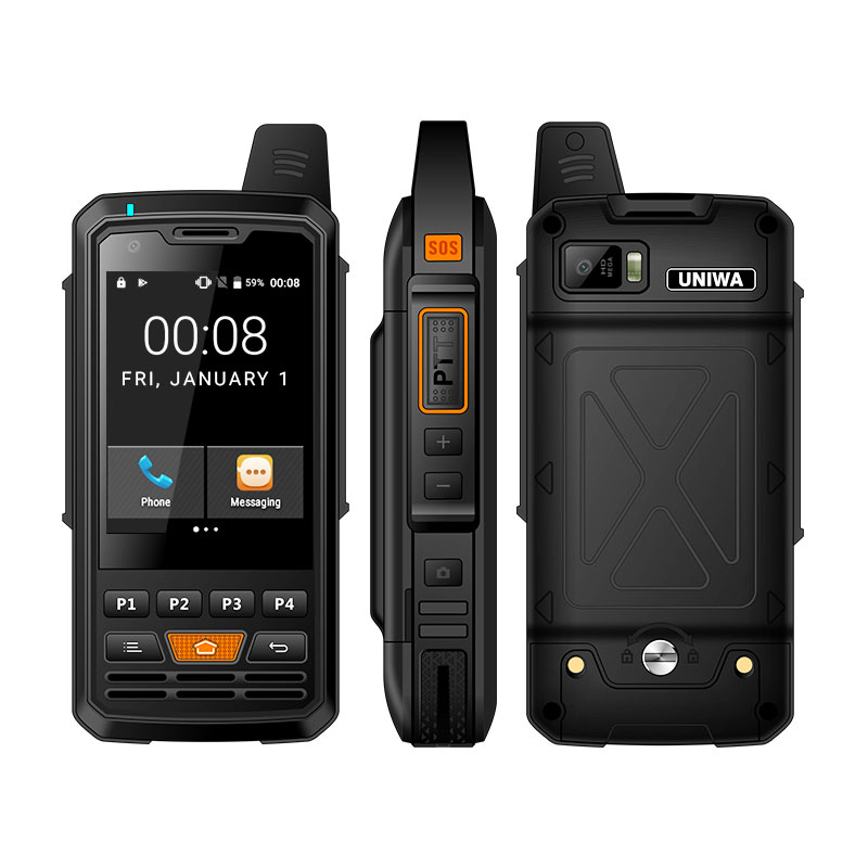 UNIWA Alps F50 2G/3G/4G Zello Walkie Talkie Android Smartphone Quad Core Cellphones MTK6735 1GB+8GB ROM Signal Booster image