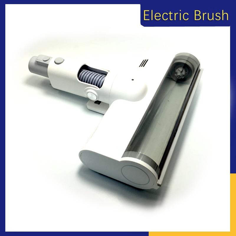 Vacuum Cleaner Electric Ground Brush Head For Xiaomi Roidmi Wireless F8 Smart Handheld Carbon Fiber Soft Wool Roller Brush