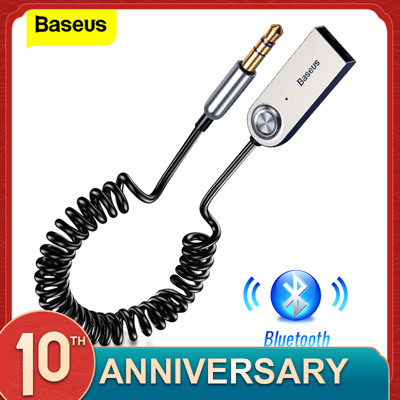 Baseus Aux <font><b>Bluetooth</b></font> <font><b>Adapter</b></font> Dongle Cable For <font><b>Car</b></font> 3.5mm Jack Aux <font><b>Bluetooth</b></font> <font><b>5.0</b></font> 4.2 4.0 Receiver Speaker Audio Music Transmitter image
